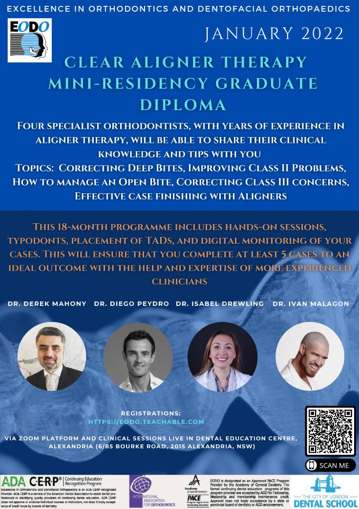 Clear Aligner Mini Residency 2022
